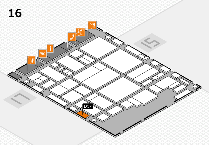 glasstec 2016 hall map (Hall 16): stand D57