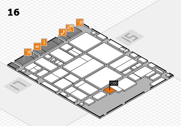 glasstec 2016 hall map (Hall 16): stand C60