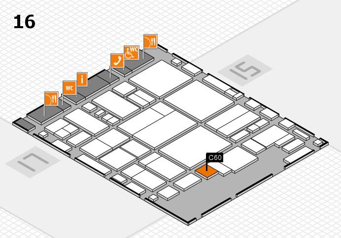 glasstec 2016 Hallenplan (Halle 16): Stand C60