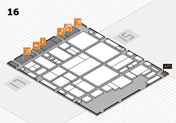 glasstec 2016 hall map (Hall 16): stand A70