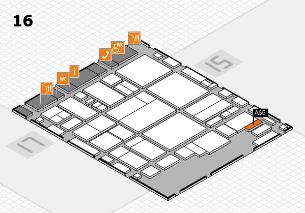 glasstec 2016 hall map (Hall 16): stand A65