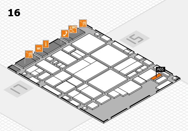 glasstec 2016 Hallenplan (Halle 16): Stand A65