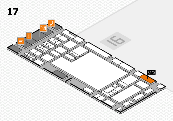 glasstec 2016 Hallenplan (Halle 17): Stand C72