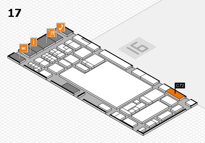 glasstec 2016 hall map (Hall 17): stand C72