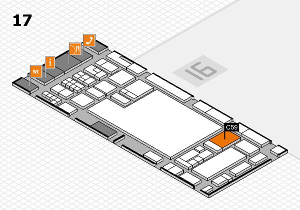 glasstec 2016 hall map (Hall 17): stand C59