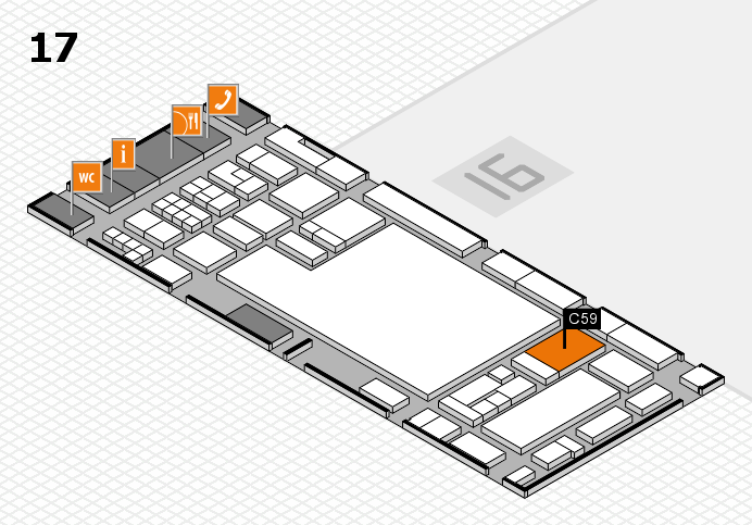glasstec 2016 hall map (Hall 17): stand C59