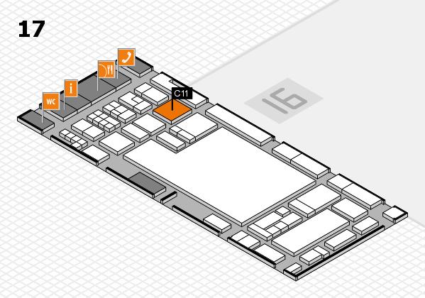 glasstec 2016 hall map (Hall 17): stand C11