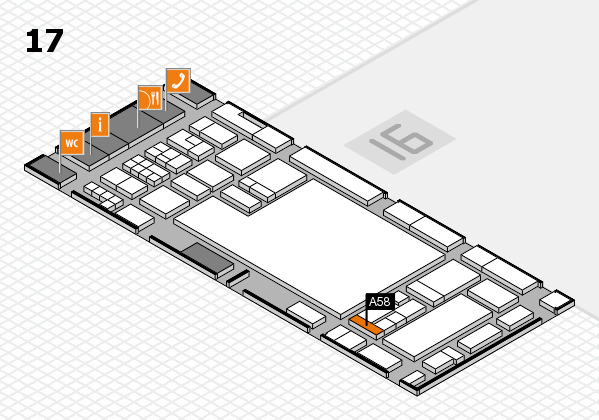 glasstec 2016 hall map (Hall 17): stand A58