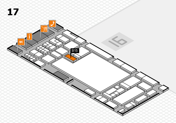 glasstec 2016 hall map (Hall 17): stand B15