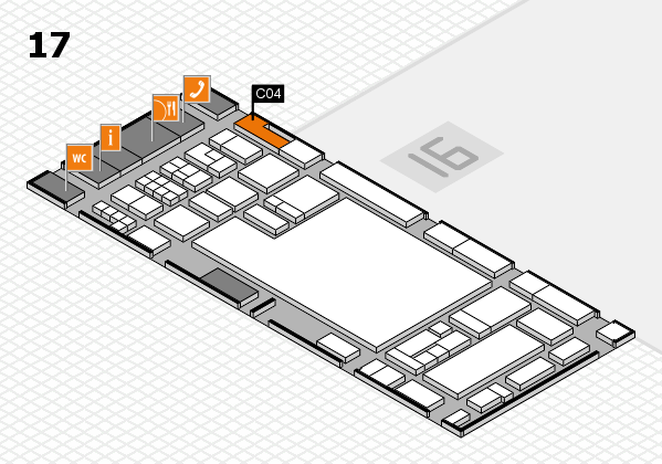 glasstec 2016 hall map (Hall 17): stand C04