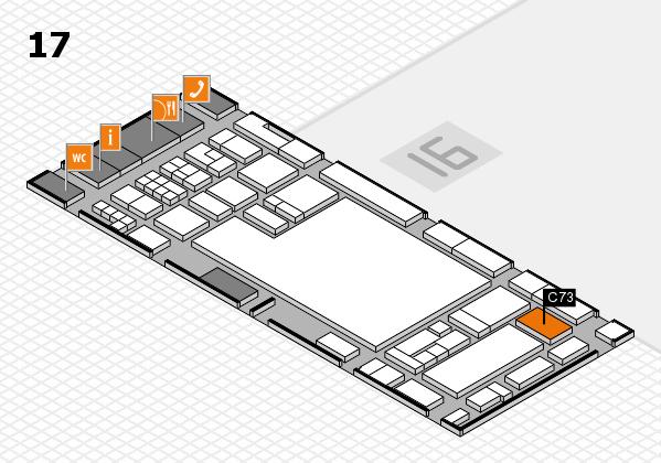 glasstec 2016 Hallenplan (Halle 17): Stand C73