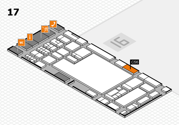 glasstec 2016 hall map (Hall 17): stand C56