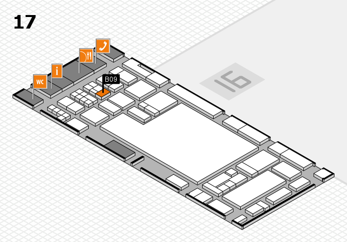 glasstec 2016 hall map (Hall 17): stand B09