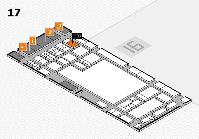 glasstec 2016 Hallenplan (Halle 17): Stand C09