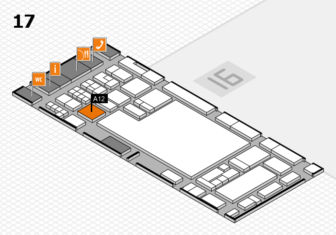 glasstec 2016 hall map (Hall 17): stand A12