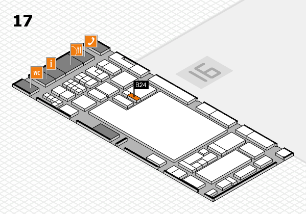 glasstec 2016 hall map (Hall 17): stand B24