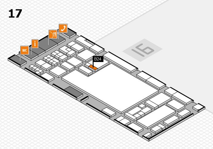 glasstec 2016 hall map (Hall 17): stand B24
