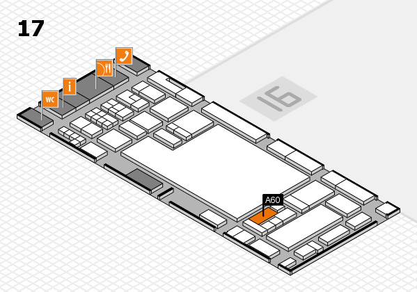 glasstec 2016 hall map (Hall 17): stand A60