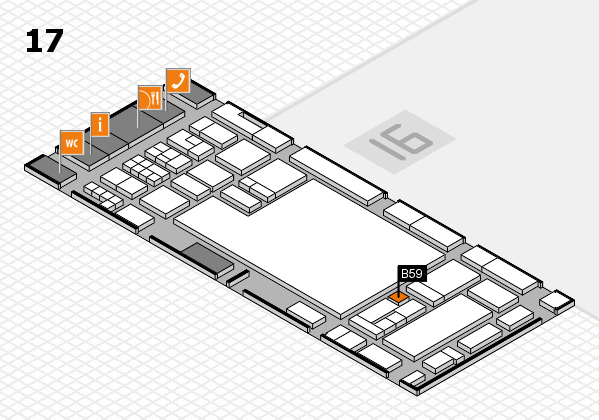glasstec 2016 hall map (Hall 17): stand B59