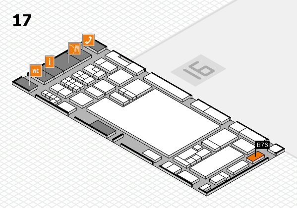 glasstec 2016 hall map (Hall 17): stand B76