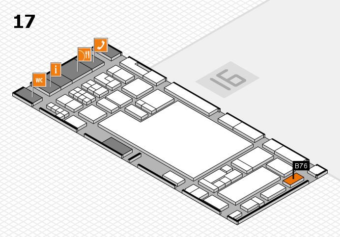 glasstec 2016 hall map (Hall 17): stand B76