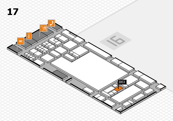 glasstec 2016 hall map (Hall 17): stand B63