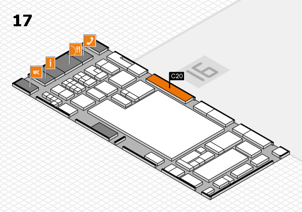 glasstec 2016 hall map (Hall 17): stand C20