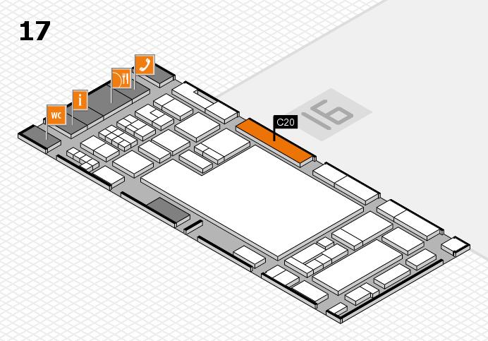 glasstec 2016 hall map (Hall 17): stand C20