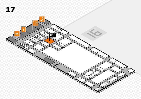 glasstec 2016 Hallenplan (Halle 17): Stand B11