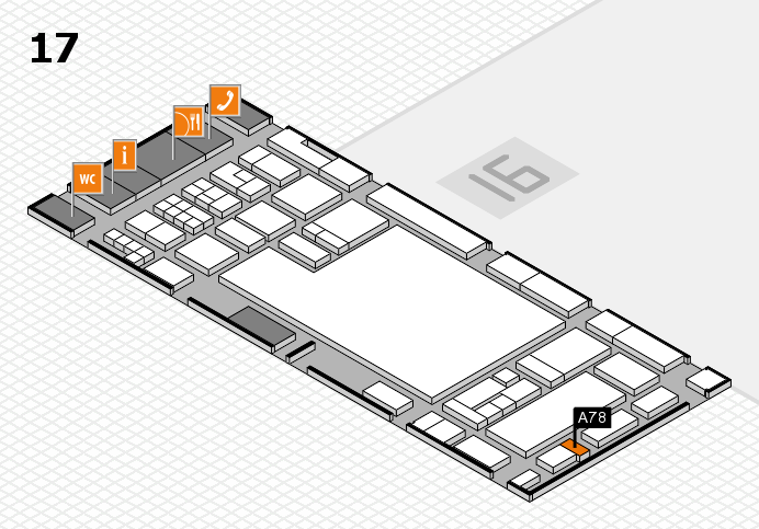 glasstec 2016 hall map (Hall 17): stand A78