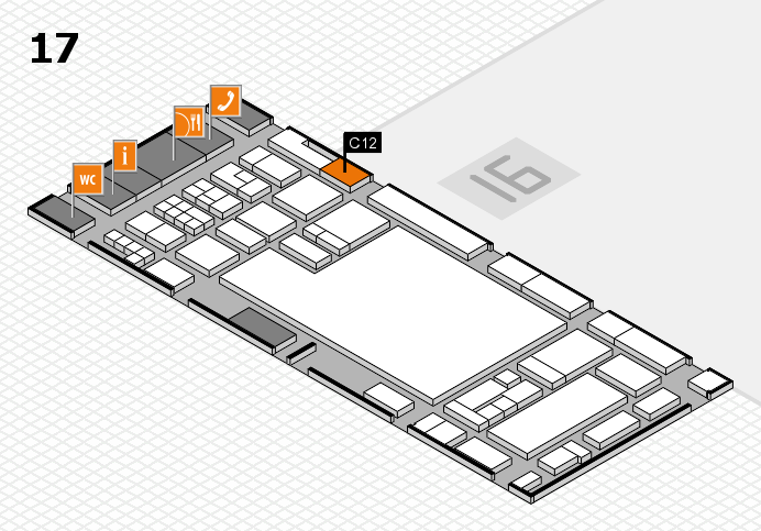 glasstec 2016 hall map (Hall 17): stand C12