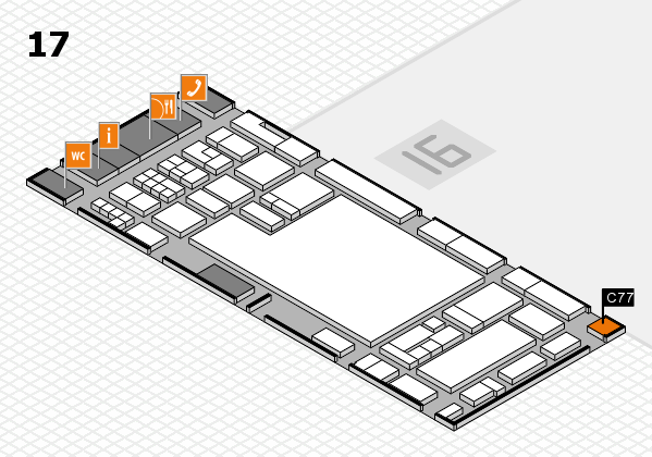 glasstec 2016 hall map (Hall 17): stand C77