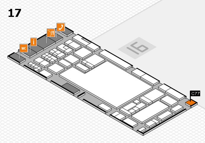glasstec 2016 hall map (Hall 17): stand C77