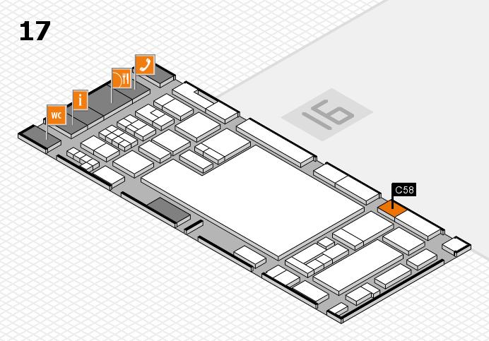 glasstec 2016 hall map (Hall 17): stand C58