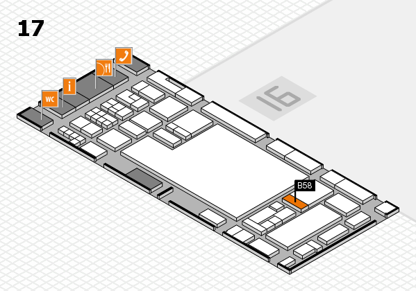 glasstec 2016 hall map (Hall 17): stand B58