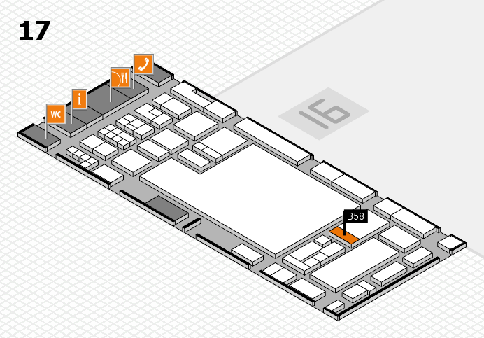 glasstec 2016 hall map (Hall 17): stand B58