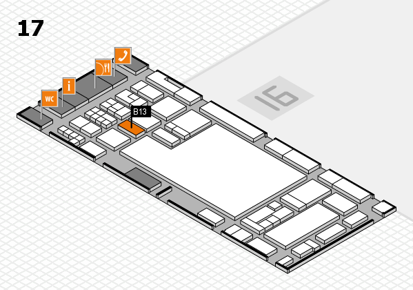 glasstec 2016 hall map (Hall 17): stand B13