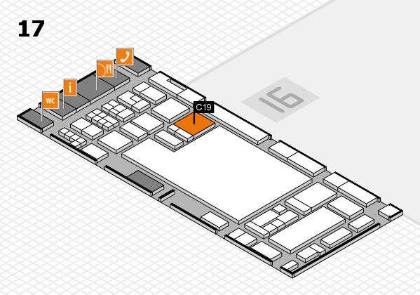 glasstec 2016 Hallenplan (Halle 17): Stand C19