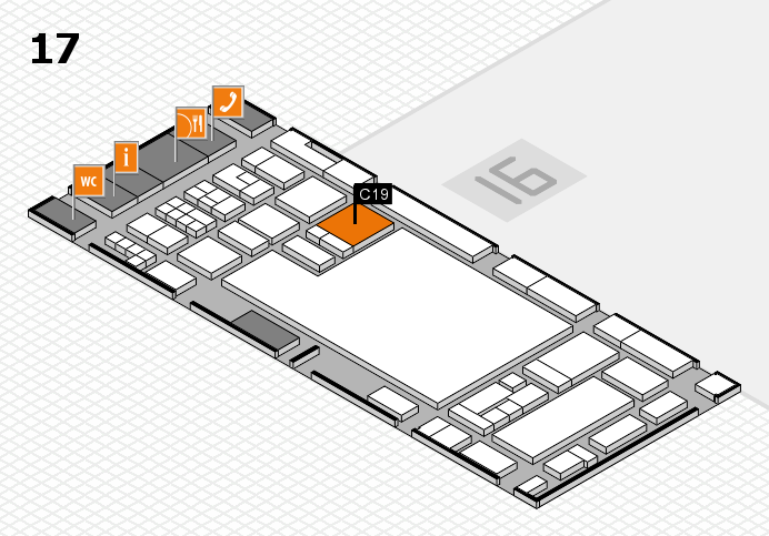 glasstec 2016 hall map (Hall 17): stand C19