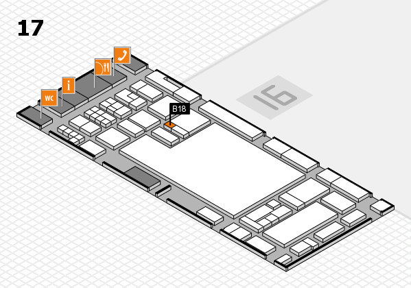 glasstec 2016 hall map (Hall 17): stand B18