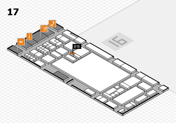 glasstec 2016 Hallenplan (Halle 17): Stand B18