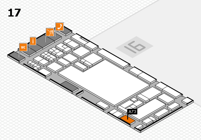 glasstec 2016 hall map (Hall 17): stand A73