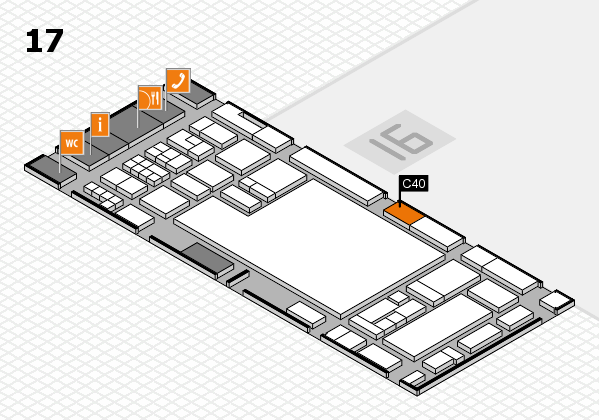 glasstec 2016 hall map (Hall 17): stand C40