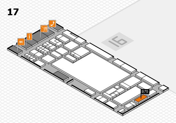 glasstec 2016 hall map (Hall 17): stand B75