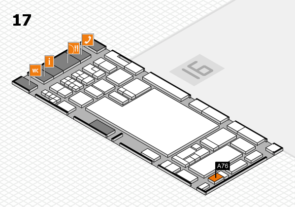 glasstec 2016 hall map (Hall 17): stand A76