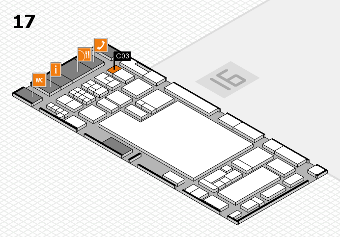 glasstec 2016 hall map (Hall 17): stand C03