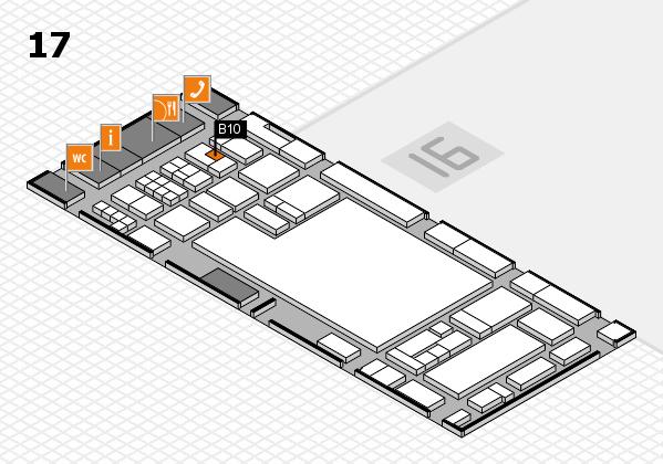 glasstec 2016 hall map (Hall 17): stand B10