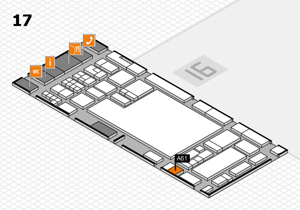 glasstec 2016 hall map (Hall 17): stand A61