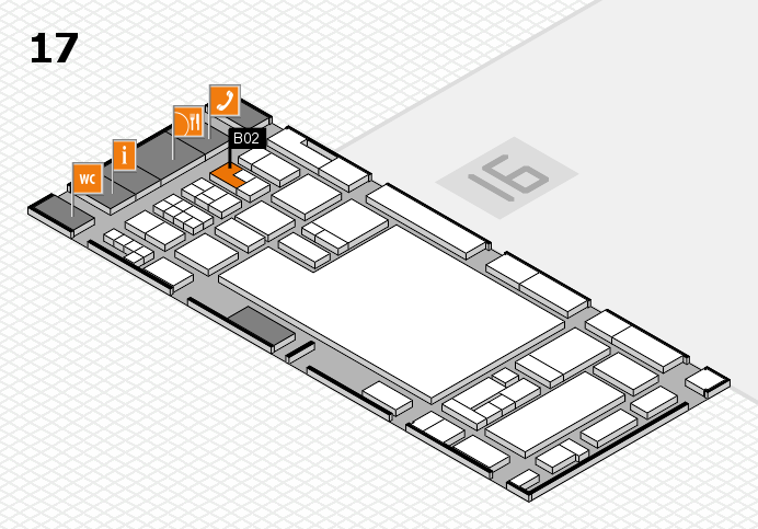 glasstec 2016 hall map (Hall 17): stand B02