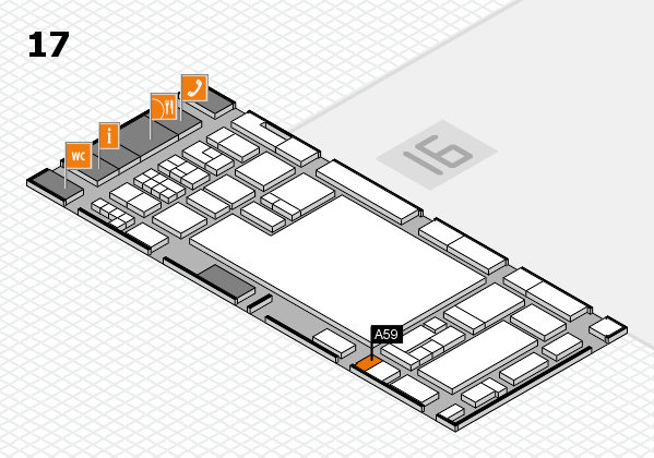 glasstec 2016 Hallenplan (Halle 17): Stand A59